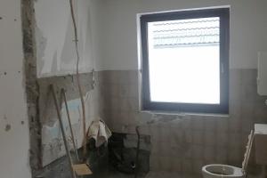 Entkernung des Badezimmers