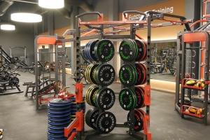 Innenausbau-Fitnessstudio-Gummiboden